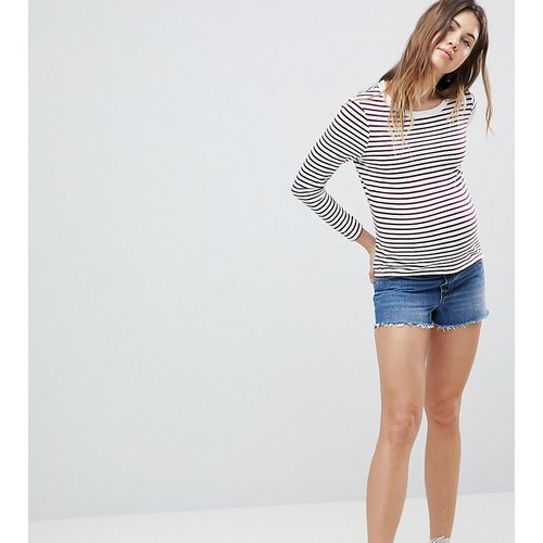ASOS DESIGN Maternity - Alvey - Short en jean avec ourlet brut - vintage - ASOS Maternity - Modalova