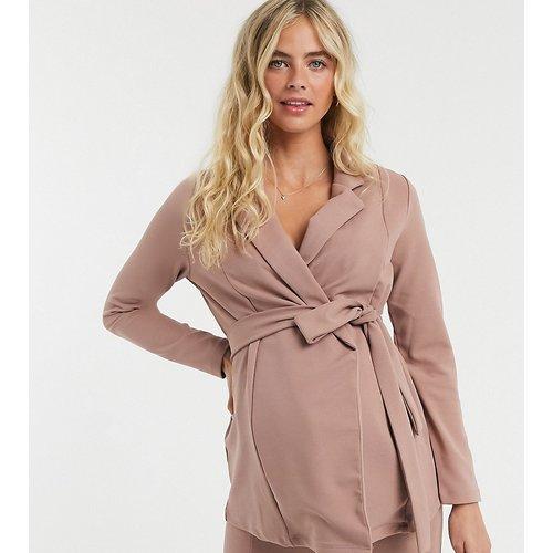 ASOS DESIGN Maternity - Blazer croisé en jersey - Blush - ASOS Maternity - Modalova
