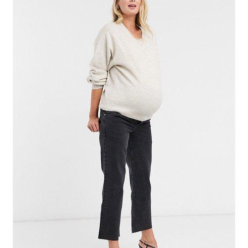ASOS DESIGN Maternity - Effortless - Jean court stretch évasé à taille haute - ASOS Maternity - Modalova