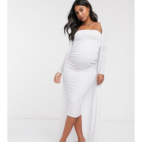 ASOS DESIGN Maternity - Ensemble deux pièces avec robe mi-longue et cardigan style robe de chambre - ASOS Maternity - Modalova