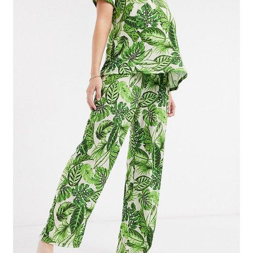 ASOS DESIGN Maternity - Mix & Match - Pantalon de pyjama à imprimé palmiers - Vert - ASOS Maternity - Modalova