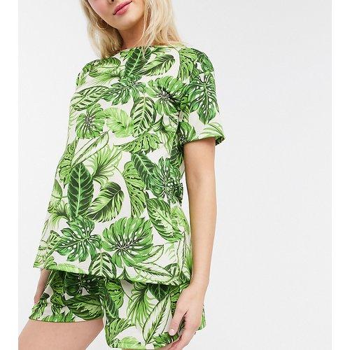 ASOS DESIGN Maternity - Mix & Match - T-shirt de pyjama à imprimé palmiers - Vert - ASOS Maternity - Modalova