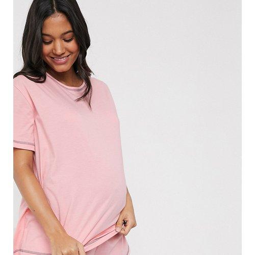 ASOS DESIGN Maternity - Mix & match - T-shirt de pyjama en jersey avec coutures surjetées - ASOS Maternity - Modalova