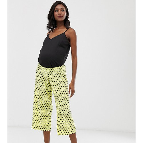 ASOS DESIGN Maternity - Pantalon plissé à pois style jupe-culotte avec bande passant sous le ventre - ASOS Maternity - Modalova