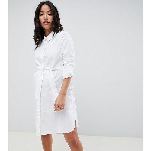 ASOS DESIGN Maternity - Robe chemise courte en coton avec ceinture à nouer - ASOS Maternity - Modalova