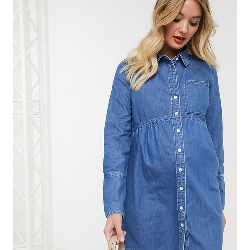 ASOS DESIGN Maternity - Robe chemise en jean - ASOS Maternity - Modalova