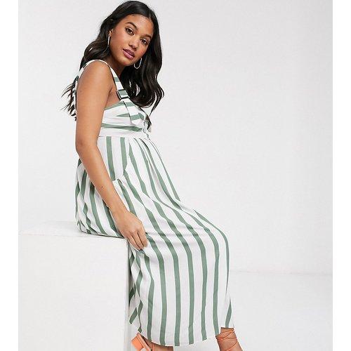 ASOS DESIGN Maternity - Robe d'été mi-longue boutonnée style salopette à rayures - ASOS Maternity - Modalova