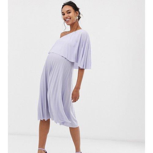ASOS DESIGN Maternity - Robe mi-longue asymétrique plissée - ASOS Maternity - Modalova