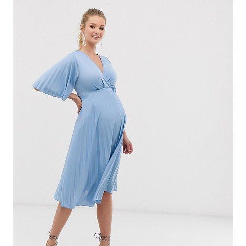 ASOS DESIGN Maternity - Robe mi-longue plissée style kimono - ASOS Maternity - Modalova