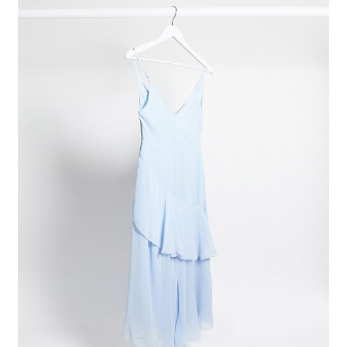ASOS DESIGN Maternity - Robe mi-longue style caraco fluide avec volants - ASOS Maternity - Modalova