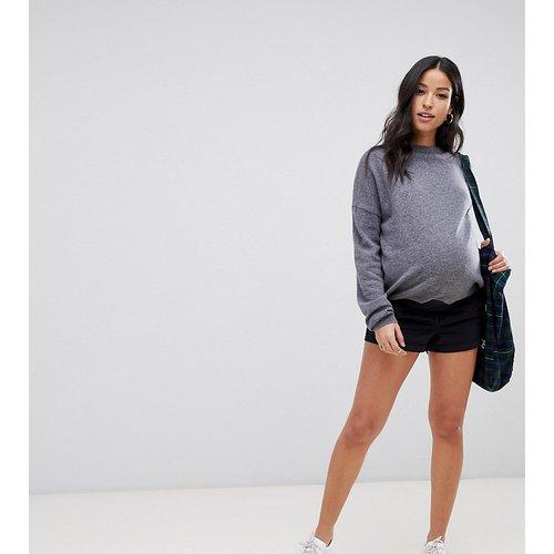 ASOS DESIGN Maternity - Short chino taille basse - marine - ASOS Maternity - Modalova