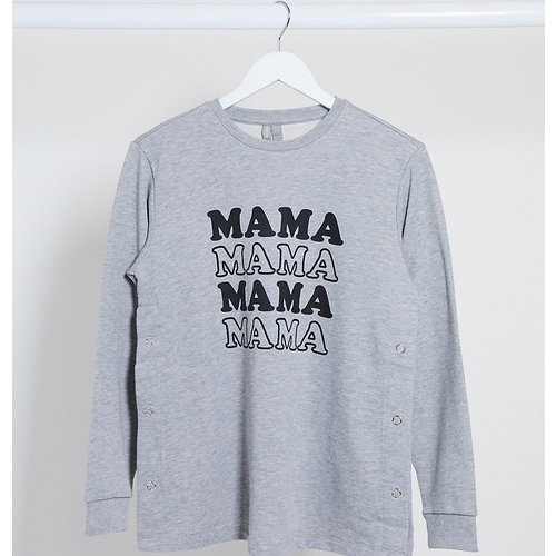 ASOS DESIGN Maternity - Sweat-shirt d'allaitement à inscription « Mama » - ASOS Maternity - Modalova