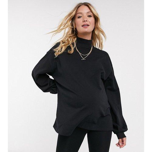 ASOS DESIGN Maternity - Sweat-shirt léger oversize à col montant et coutures apparentes - ASOS Maternity - Modalova