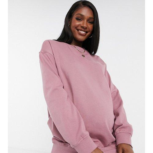 ASOS DESIGN Maternity - Sweat-shirt oversize en coton biologique - Mauve - ASOS Maternity - Modalova