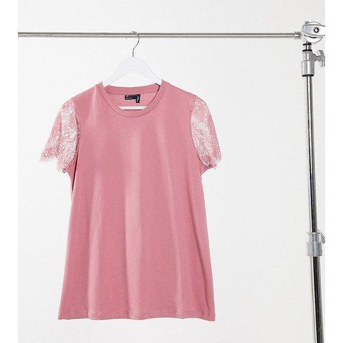 ASOS DESIGN Maternity - T-shirt à détails en dentelle aux manches - Vieux - ASOS Maternity - Modalova