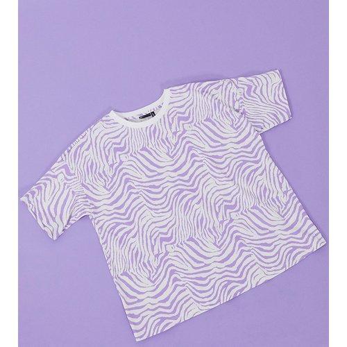 ASOS DESIGN Maternity - T-shirt à imprimé animal - Lilas - ASOS Maternity - Modalova