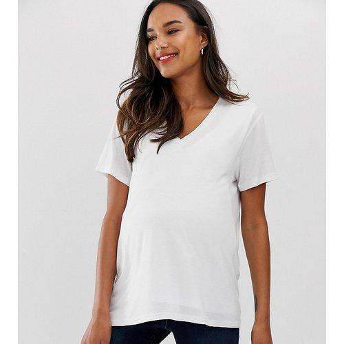 ASOS DESIGN Maternity - T-shirt d'allaitement à col V - ASOS Maternity - Nursing - Modalova