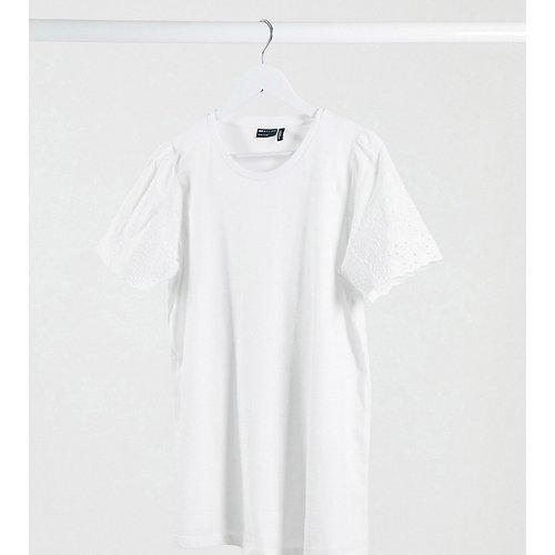 ASOS DESIGN Maternity - T-shirt d'allaitement à manches brodées - ASOS Maternity - Nursing - Modalova