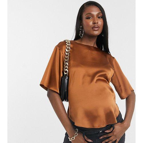 ASOS DESIGN Maternity - T-shirt en satin - Roux - ASOS Maternity - Modalova