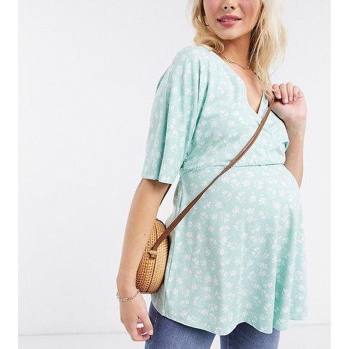 ASOS DESIGN Maternity - Top cache-cœur d'allaitement à fleurs avec liens - ASOS Maternity - Nursing - Modalova