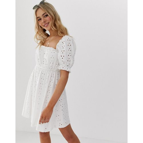Milkmaid - Robe courte brodée - ASOS DESIGN - Modalova