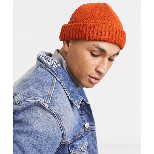 Mini bonnet style pêcheur en maille contrastante - ASOS DESIGN - Modalova