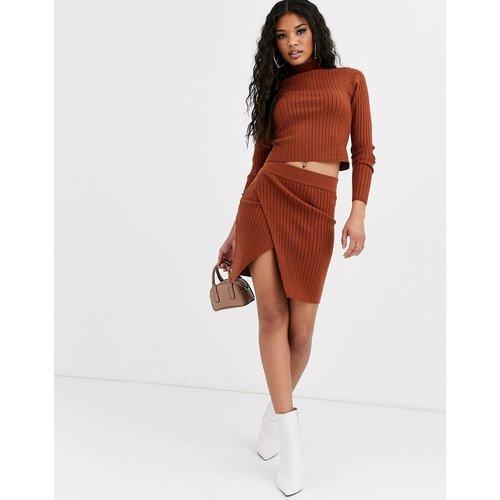 Mini-jupe d'ensemble côtelée style portefeuille - ASOS DESIGN - Modalova