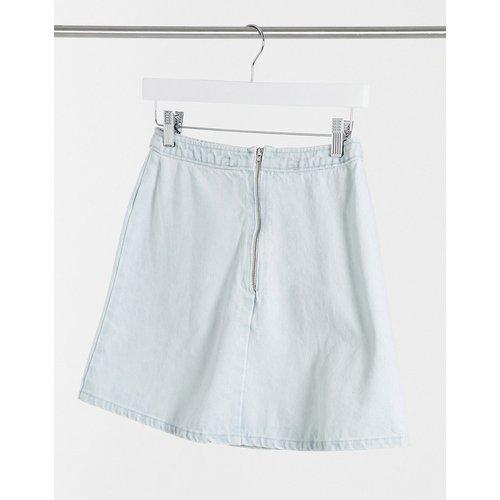 Mini-jupe d'ensemble trapèze en jean - délavé clair - ASOS DESIGN - Modalova