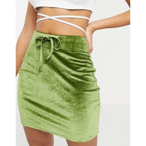 Mini-jupe fourreau en velours avec cordon - ASOS DESIGN - Modalova