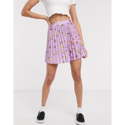 Mini-jupe plissée - fleuri - ASOS DESIGN - Modalova