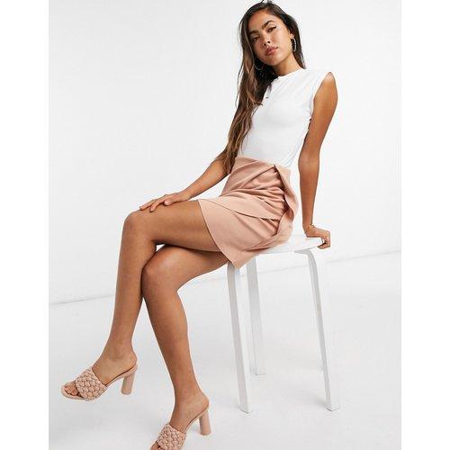Mini-jupe portefeuille - Fauve clair - ASOS DESIGN - Modalova