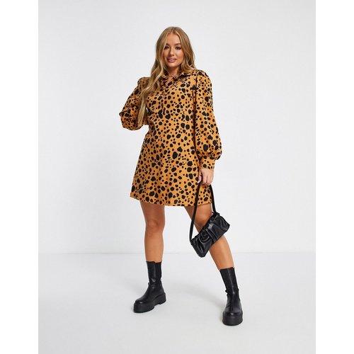 Mini robe chemise à imprimé léopard - Marron - ASOS DESIGN - Modalova