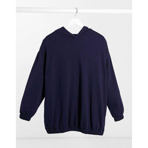 Mix & Match - Hoodie cocon super oversize avec poches sur les côtés - Bleu marine (ensemble) - ASOS DESIGN - Modalova