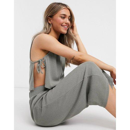 Mix & Match - Jupe-culotte confort côtelée effet brossé - Kaki - ASOS DESIGN - Modalova