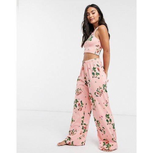 Mix & Match - Pantalon de pyjama large en jersey à fleurs - ASOS DESIGN - Modalova