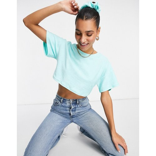 Mix & match - T-shirt confort court en tissu éponge avec chouchou - ASOS DESIGN - Modalova