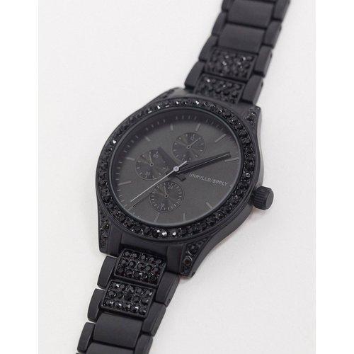 Montre bracelet avec cristal - Noir - ASOS DESIGN - Modalova