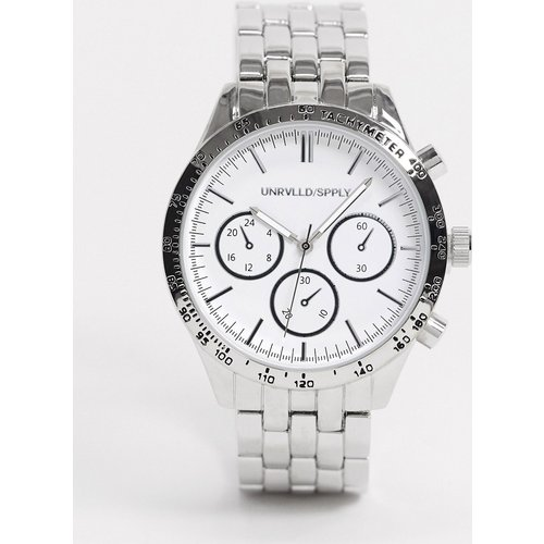 Montre-bracelet épaisse avec cadran blanc - ASOS DESIGN - Modalova