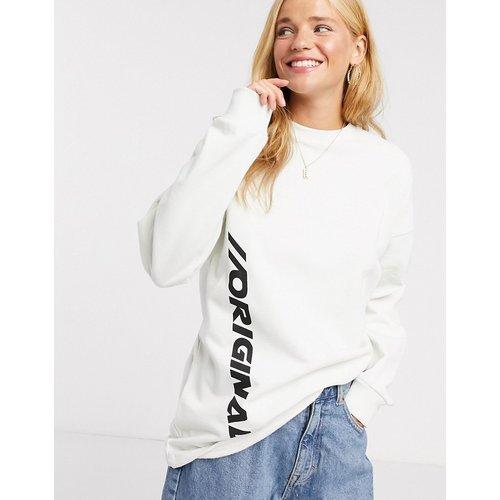 Original - Sweat-shirt oversize à imprimé - Crème - ASOS DESIGN - Modalova