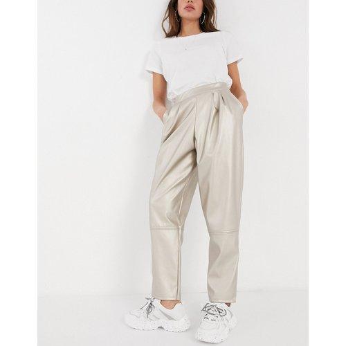 Pantalon à pinces métallisé - ASOS DESIGN - Modalova