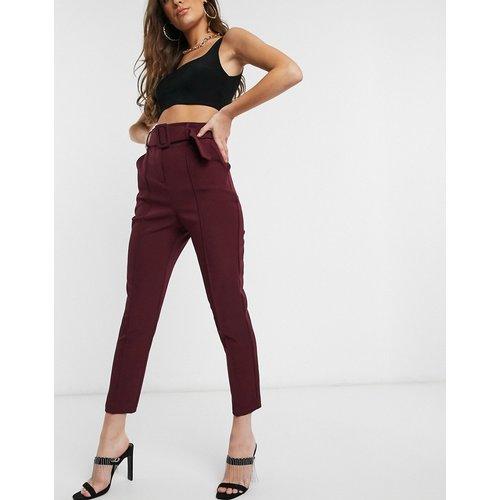 Pantalon ajusté à ceinture - Prune - ASOS DESIGN - Modalova