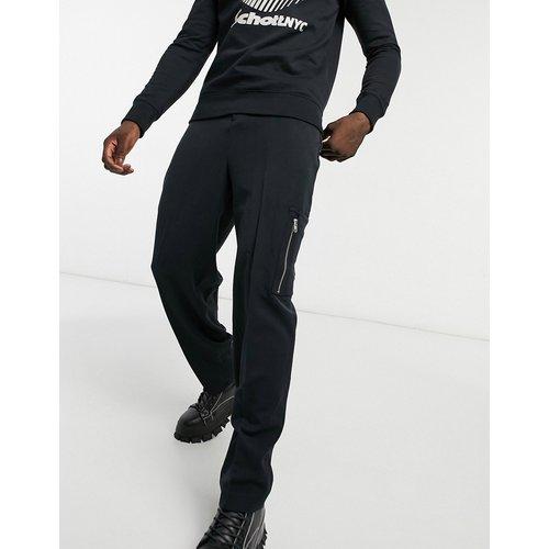 Pantalon ajusté habillé à taille haute et poche cargo - ASOS DESIGN - Modalova