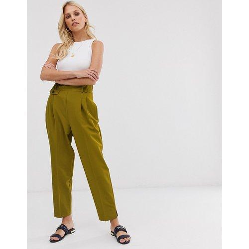 Pantalon bouffant ajusté et habillé à taille haute - ASOS DESIGN - Modalova