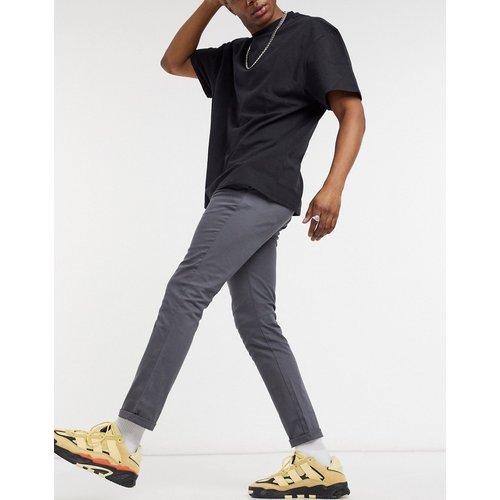Pantalon chino ajusté - foncé - ASOS DESIGN - Modalova