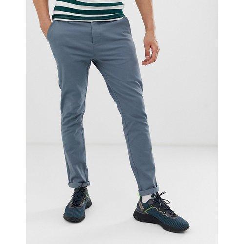 Pantalon chino ajusté - Gris tempête - ASOS DESIGN - Modalova