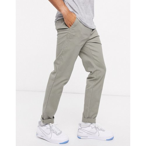 Pantalon chino ajusté - Kaki - ASOS DESIGN - Modalova