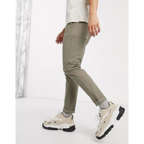 Pantalon chino ajusté - Kaki clair - ASOS DESIGN - Modalova