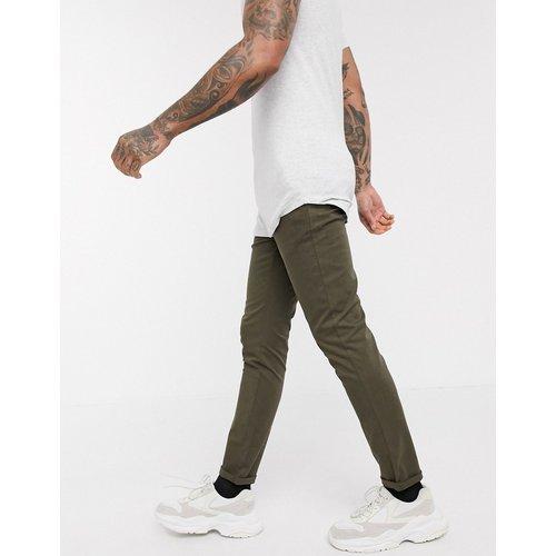 Pantalon chino ajusté - Kaki foncé - ASOS DESIGN - Modalova