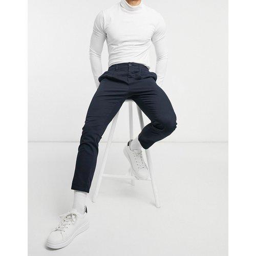 Pantalon chino cigarette à pinces - Bleu - ASOS DESIGN - Modalova
