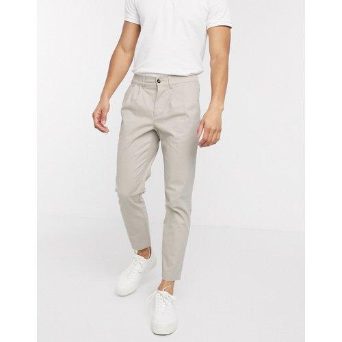 Pantalon chino cigarette à plis - ASOS DESIGN - Modalova